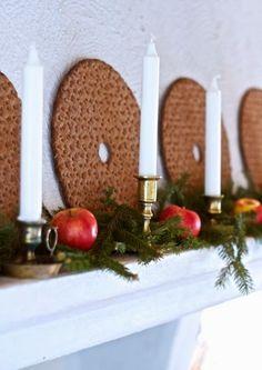 ℒʝusa dгömmaг på ℓandet Swedish Christmas, Very Merry Christmas, Cozy Christmas, Scandinavian Christmas, Simple Christmas, Christmas Time, Christmas Crafts, Christmas Decorations, Christmas Kitchen