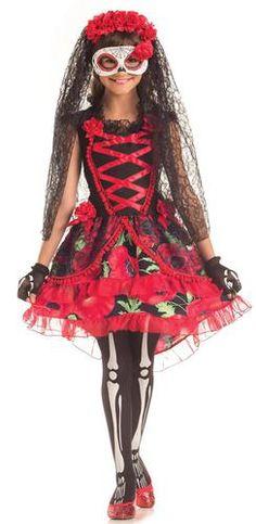 Day of the Dead Señorita Child Costume