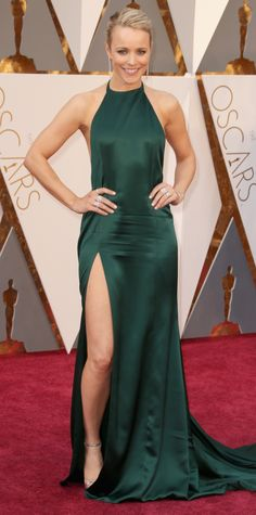 2016 Oscars Red Carpet - Rachel McAdams in August Getty Atelier - stunning in emerald green