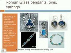 @Antique #Roman glass jewelry Israeli jewelry silver jewelry  http://www.bluenoemi-jewelry.com