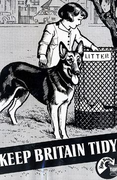 Anti-Litter Campaign poster in 1958 [R]