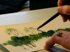 Watercolor Dry Brush Technique