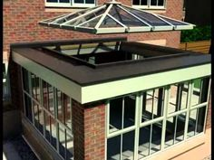 Pergola Attached To Roof Orangery Roof, Kitchen Orangery, Conservatory Roof, Pergola With Roof, Patio Roof, Pergola Plans, Diy Pergola, Pergola Shade, Pergola Kits