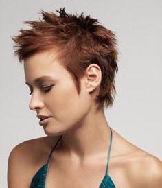 Spiky bob hairstyle