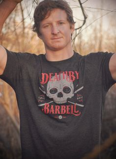 Crossfit Death By Barbell Men's TriBlend TShirt by Level 1 Apparel