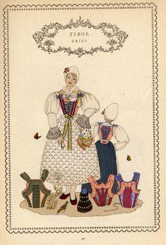 Tirol 40 Austria, Folk Costume, Costumes, Regional, Traditional Outfits, Switzerland, Germany, Clothing, Painting