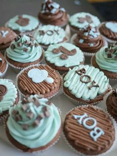 Its a Boy Baby Shower Cup Cakes
