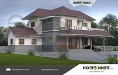 2200 sq ft Two Storey House Designs India is the traditional styled home plan designed by Homeinner Team.The luxury design accommodate Car porch , Online Home Design, 3d Home Design, 3d Interior Design, Duplex House Design, Villa Design, Small House Design, Kerala Traditional House, Interior Design And Construction, Free House Plans