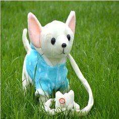 電動綱犬ぬいぐるみ音楽機械リモコンリーシュ犬電子玩具子供のクリスマスプレゼント