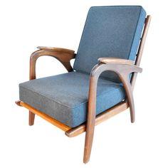 Easy Chair Highback mit aussergewöhnlichem Rahmen, Danish Design – Vintage 1950er