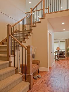 One thing I like in a house is a large hallway space and a staircase -especially one which can be made a feature.
