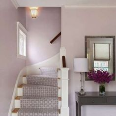 Lavendar in the foyer gives you and your guests a serene sense entering the house