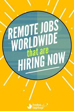 Remote Jobs Worldwide Hiring Now.