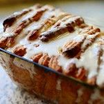 cinnamon pull apart bread by the pioneer woman. i'm pretty sure i'd cook anything she makes. i will have to wait until i get a loaf pan and rolling pin.