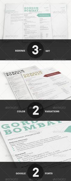 Graphicriver-Modern typographic resume set