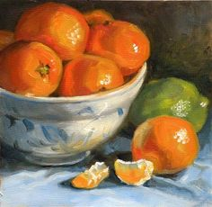 "Daily Paintworks - ""Clementines"" by Sandra Kavanaugh"