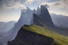 Les Dolomites, une région des Alpes italiennes, dans le Trentin-Haut-Adige: