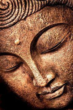 Bronze brown face of buddha Lotus Buddha, Buddha Kunst, Buddha Kopf, Buddha Wall Art, Buddha Painting, Buddha Zen, Buddha Drawing, Buddha Tattoo Design, Buddha Tattoos