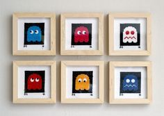 pacman embroidery by leandro dario