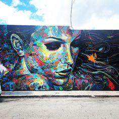 Wynwood Walls #Miami, mural. Artist: David Walker