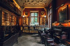 The Library Bar at the Saint James, Paris  - TownandCountrymag.com