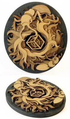 Wood art by Martin Tomsky.