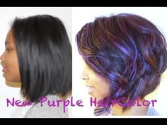 How to Color Your Hair Purple and Keep it Heathly - YouTube