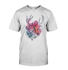 Geometric Stag T shirt Stag T Shirts, Buy T Shirts Online, Deer, Mens Tops, Cotton, Fashion, Moda, Fashion Styles, Fashion Illustrations