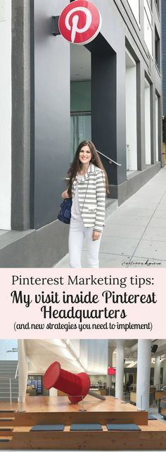 Looking for the BEST Pinterest Marketing Strategies? Join my insider's tour of Pinterest and learn the top Pinterest marketing strategies from inside Pinterest headquarters in San Francisco. #pinterestmarketing