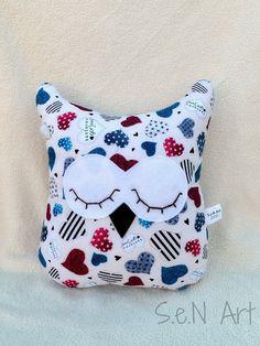 Handmade Owl Soft Toy/Pillow by SenArt1 on Etsy