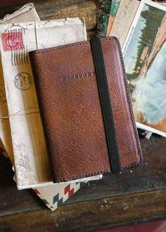 Dakota Leather Passport Travel Wallet - Brown