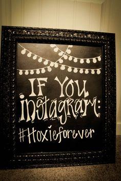 """Vintage 'Instagram' Framed Chalkboard 16""""X20"""" on Etsy, $80.00"""