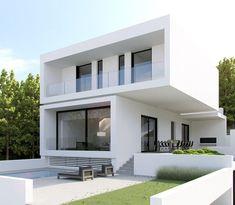 Architektur Best Ideas For Modern House Design : – Picture : – Description Cube on Cube by eDje arch Minimalist House Design, Minimalist Home, Modern House Design, Modern House Plans, Small House Plans, Small Modern Houses, Open Plan Apartment, Facade House, House Facades