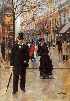 Browse through images in Pg Reproductions' JEAN BERAUD collection. Gallery dedicated to the works of Jean Beraud: b. 1849 d. French Impressionist and realist painter of Parisian Life. Belle Epoque, Paintings I Love, Beautiful Paintings, Jean Beraud, Maurice Utrillo, French Impressionist Painters, Jean Leon, Musee Carnavalet, Guache