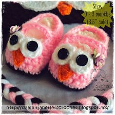 damn it Janet, let's crochet!: Baby Owl Booties