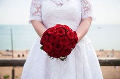 Roses are red! Bridal bouquet | FitzGerald Photographic | Brighton Wedding Photographer | http://www.fitzgeraldphotographic.co.uk/