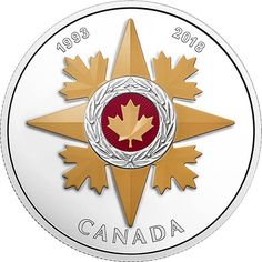 RCM New Release: 2018 1 oz Pure Silver Coloured Coin - Canadian Honours: 25th Anniversary of the Sta - Coin Community Forum