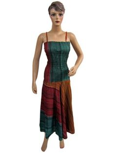 Bohemian Spaghetti Strap Dress Tie Dye Stripes Printed Smocked Cotton Maxi Dress Mogul Interior, http://www.amazon.com/dp/B0086T3AKO/ref=cm_sw_r_pi_dp_os0Wpb0N02JTM$33.99