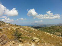 meer dan een km hoog. Noordwest Kreta en Middellandse zee.