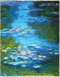 monet water lilies art