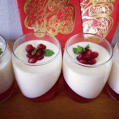 Lychee Panna Cotta with Pomegranate Jelly // Fait Maison
