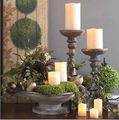 Lovely candlelight arrangement.