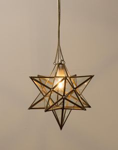 Light ceiling lamp creative characteristics modern metal and glass elegant star shaped ceiling lamp in glass with beautiful brass coloured joins and ceiling canopy the ceiling lamp has a single opening with a hook and a mozeypictures Gallery