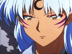 sesshomaru's smile :) gif - That's terrifying....