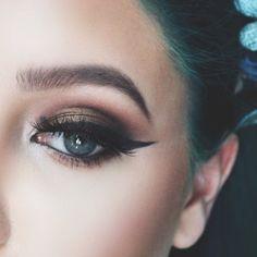 Eye inspiration: Bronzed Smoke by GabiBailey924 #Sephora #TheBeautyBoard