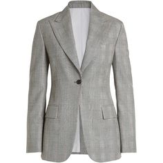 CALVIN KLEIN 205W39NYC Printed Wool Blazer (€1.589) ❤ liked on Polyvore featuring outerwear, jackets, blazers, black, fleece-lined jackets, lapel jacket, preppy jackets, wool blazer and blazer jacket