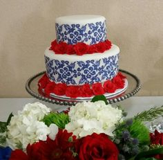 Spanish-theme Talavera Art Birthday Cake
