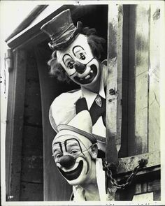 browsethestacks:    Paul Jarome And Lou Jacobs  The Ringling Brothers Circus At Boston Garden (1941)  Press Photo