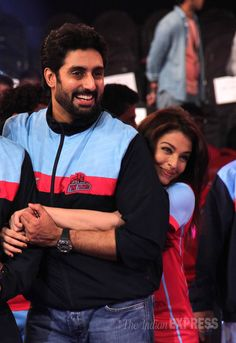 PHOTOS: Seven years and still fresh! Aishwarya, Abhishek's PDA at pro-kabaddi finale | The Indian Express