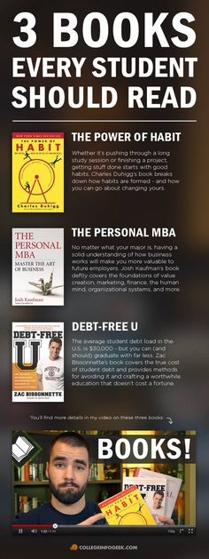 3 essential books for college students